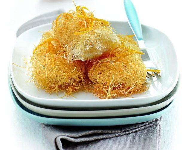 Κανταϊφάκια με κρέμα πορτοκαλιού