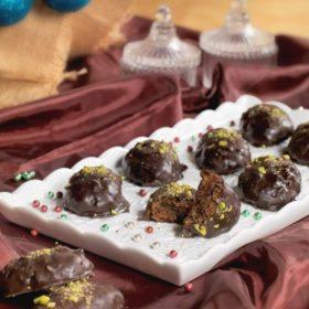 Μελομακάρονα με σοκολάτα από την Αργυρώ Μπαρμπαρίγου