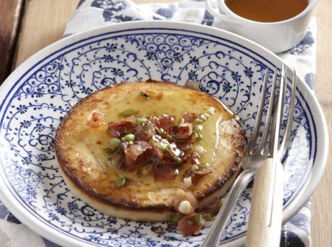 Ψητό μανούρι με μέλι και μπέικον