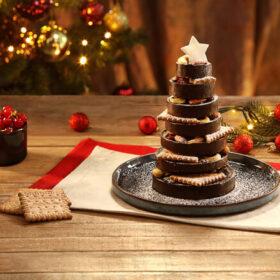 Χριστουγεννιάτικο Δεντράκι με Πτι Μπερ, σοκολάτα & ξηρούς καρπούς